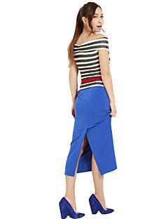 Women's Blue/Black/Green Skirts , Vintage/Casual/Work Midi