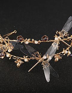Dame Rhinsten / Krystal / Messing / Legering / Imiteret Perle / Plastik Medaljon-Bryllup / Speciel Lejlighed Diademer 1 Stykke