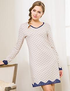 Women Cotton / Lace / Spandex Pajama