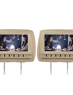"""9 """"carro headrest dvd player suporte fm transmissor sem fio jogo (1 par)"""