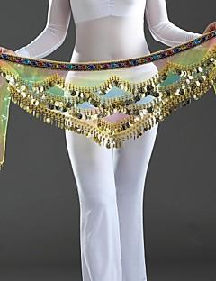 Dance Accessories Belly Dance Hip Scarves Women's Performance Crepe Paillettes 1 Piece Multi-color