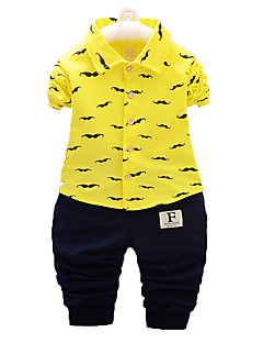 Boy's Casual/Daily Print Clothing Set,Cotton Fall Green / Pink / White / Yellow