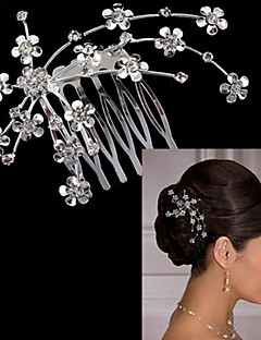 Beautiful Silver Flower Hair Comb for Wedding Party Hair Jewelry Lady