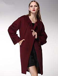 ARNE® Dames Ronde hals Lange mouw Wool & Blends Zilver-c5028