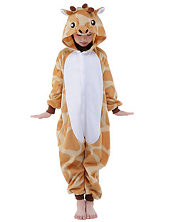 Kigurumi Pyjamas New Cosplay® Giraf Trikot/Heldragtskostumer Festival/Højtider Nattøj Med Dyr Halloween Oransje Patchwork Kigurumi Til