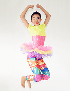 Performance Outfits Children's Performance Spandex / Sequined Cascading Ruffle 3 Pieces Multi-color Performance