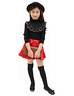 Girl's Casual/Daily Solid Blouse / Sweater & CardiganWool Fall Black / White