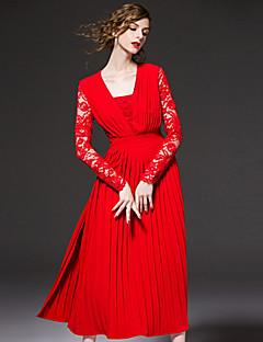 frmz Ausgehen anspruchsvolle Mantel dresssolid trägerlos midi lange Hülse rot Polyester Frühjahr / Herbst Hochhaus