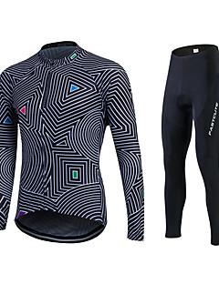 fastcute שרוול ארוך חולצה וטייץ לרכיבה לנשים לגברים יוניסקס אופניים אימונית ג'רזי טייץ רכיבה על אופניים מכנסיים צמרות מדים בסטיםנושם