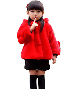 Girl's Casual/Daily Solid Suit & BlazerFaux Fur Winter Red / Beige