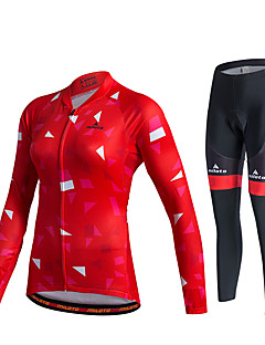 Miloto שרוול ארוך חולצה וטייץ לרכיבה לנשים יוניסקס אופניים מכנסיים אימונית ג'רזי טייץ רכיבה על אופניים מדים בסטים צמרותנושם ייבוש מהיר