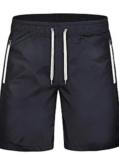Homens Corrida Cropped Shorts Respirável Secagem Rápida Compressão Confortável Primavera Verão Outono Inverno Corrida Poliéster Solto