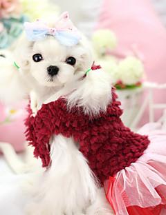 Dog Hoodie / Dress Red / Purple Dog Clothes Winter Floral / Botanical Keep Warm / Fashion