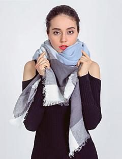 Damen Retro / Freizeit Wollmischung Schal,Quadratisch Schottenmuster Herbst / Winter