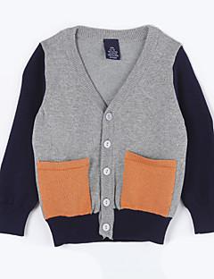 Casual/Dagelijks-Kleurenblok-Katoen-Herfst-Boy's-Trui & Vest-Grijs