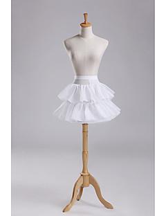 Spodničky Plesový střih Krátká délka 2 Polyester Biały