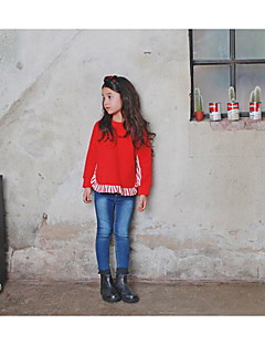 Girl's Casual/Daily Solid Hoodie & SweatshirtPolyester Fall Black / Red