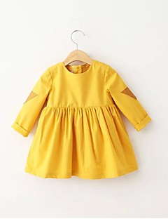 Girl's Casual/Daily Solid BlouseCotton All Seasons Yellow