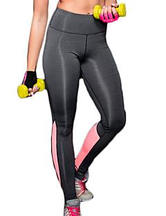 Jóga kalhoty Cyklistické kalhoty / Spodní část oděvu Prodyšné / Rychleschnoucí / Komprese / Pohodlné Vysoký Vysoká pružnostSportovní