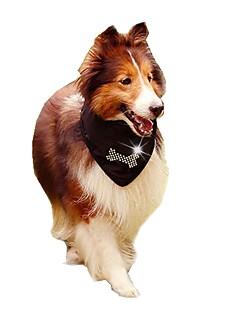 Gatos / Cães Fantasias / Colares / Gravata/Gravata Borboleta Preto Roupas para Cães Inverno / Verão / Primavera/OutonoCor Única /