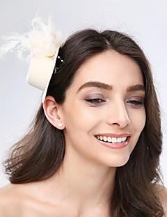 成人用 羽毛 チュール ファブリック かぶと-結婚式 パーティー カジュアル ヘッドドレス 1個