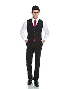 Patterns Wool & Polyester Blend Black Pockets