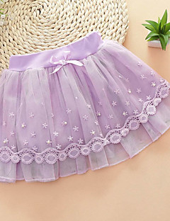 Girl's Casual/Daily Solid SkirtPolyester Summer Pink / Purple / Beige