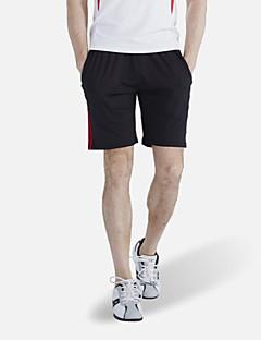 男性用 ランニング バギーショーツ クロップパンツ ショートパンツ 高通気性 速乾性 ビデオ圧縮 快適 春 夏 秋 冬 ランニング ポリエステル ルーズ アウトドアウェア ブラック クラシック