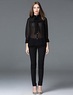 frmz kvinders solid sort skinny pantssimple