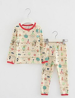Boy's Casual/Daily Print Clothing Set / SleepwearCotton Winter / Spring / Fall Beige