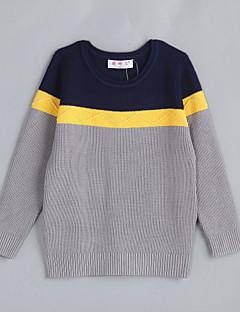 Casual/Dagelijks Kleurenblok Katoen Herfst Trui & Vest