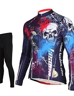 TASDAN Calça com Camisa para Ciclismo Homens Manga Longa Moto Calças Camisa/Roupas Para Esporte Meia-calça Blusas Conjuntos de Roupas