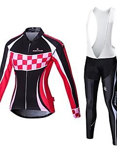malciklo Winter Fleece Cycling Jersey Women's Long Sleeve Bicycle Cycling Clothing Outdoor Ropa Ciclismo wear
