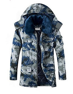 Hiking Softshell Jacket Unisex Thermal / Warm / Wearable Winter Cotton Camouflage  Camping / Hiking-Sports
