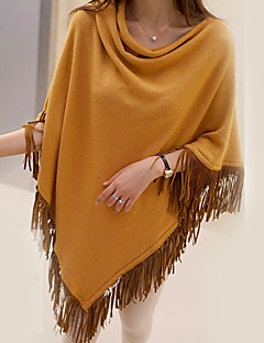 Women's Going out Sophisticated Regular Cloak / CapesSolid Red / Brown