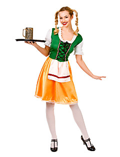 Costumes More Costumes Halloween / Oktoberfest Green / Yellow Patchwork Terylene Dress / More Accessories