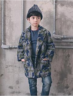 Jungen Anzug & Blazer / Jacke & Mantel-Lässig/Alltäglich Einfarbig Polyester Herbst Grün