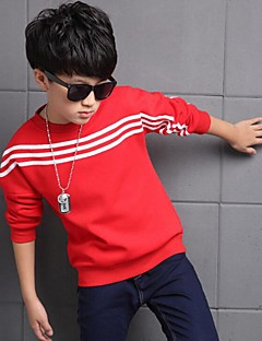 Boy's Casual/Daily Striped TeeCotton Winter Black / Red
