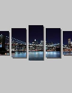Leinwand-Set Landschaft Modern,Fünf Panele Horizontal Druck-Kunst Wand Dekoration For Haus Dekoration