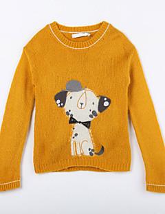 Menina de Suéter & Cardigan,Casual Animal Algodão Outono Amarelo