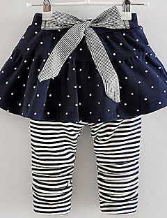 Girl's Casual/Daily Striped LeggingsCotton Fall Blue / Red