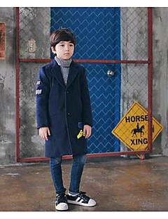 Costume & Blazer Boy Couleur Pleine Vacances Polyester Automne Bleu