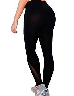 calças de yoga Meia-calça Calças Respirável Secagem Rápida Compressão Confortável Natural Elasticidade Alta Moda Esportiva Preto Mulheres