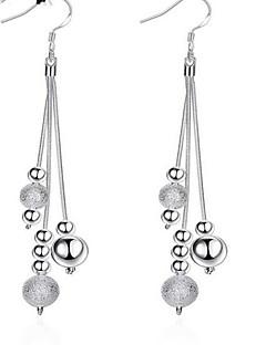 Ohrring Runde Form Tropfen-Ohrringe Schmuck 1 Paar Quaste / Modisch Alltag / Normal Aleación / versilbert Damen Weiß