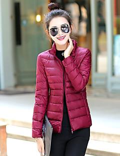 Damen Daunen Mantel - Einfach Langarm Polyester