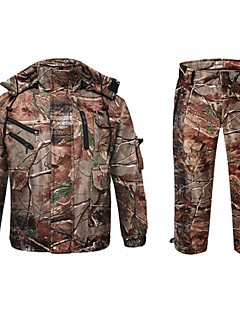 Winter Fleece Jacket With Fleece Trousers Camouflage Hunting Wader Waterproof Camo Hunting Clothing Suits