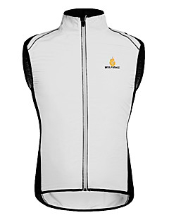WOLFBIKE® Cycling Vest Unisex SleevelessBreathable / Quick Dry / Windproof / Front Zipper / Lightweight Materials / Reflective Strips /