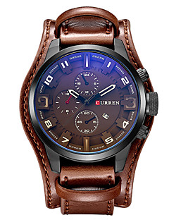 CURREN Pánské Sportovní hodinky Vojenské hodinky Hodinky k šatům Módní hodinky Náramkové hodinky Křemenný Japonské Quartz Kalendář Kůže