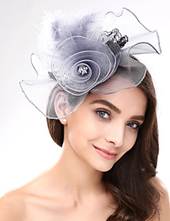 Women's Lace / Feather / Net Headpiece-Wedding / Special Occasion / Casual Fascinators 1 Piece