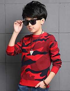 Boy's Casual/Daily Print Sweater & CardiganCotton Winter Green / Red